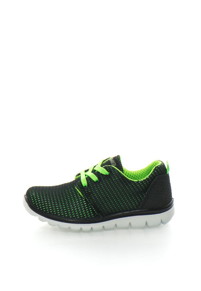 Primigi Tenisi negru cu verde neon