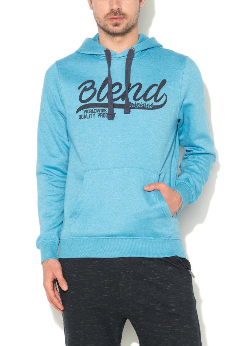 BLEND Hanorac bleu regular fit cu captuseala de fleece