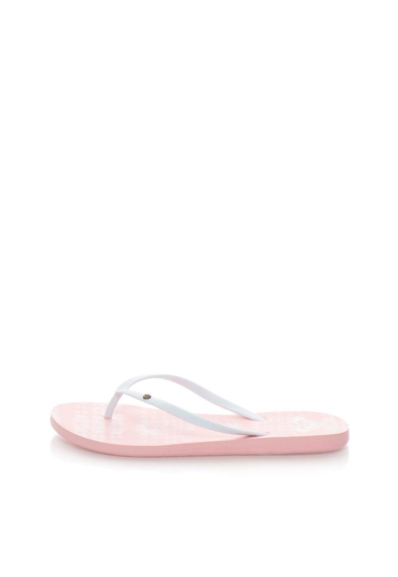 Papuci flip-flop albi ROXY