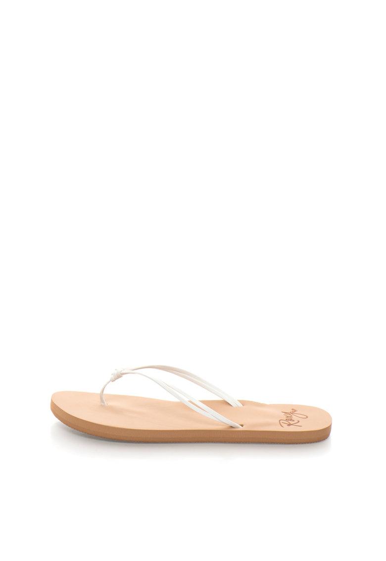 Roxy Papuci flip-flop albi cu detaliu innodat Lahaina