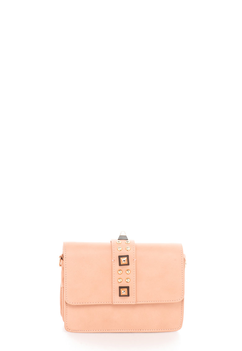 Steve Madden Geanta structurata mica roz prafuit cu tinte Fae