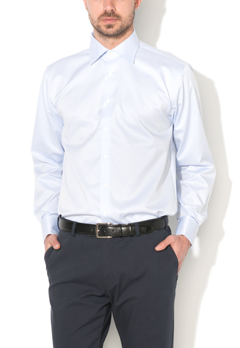 Vincenzo Boretti Camasa regular fit albastru azur