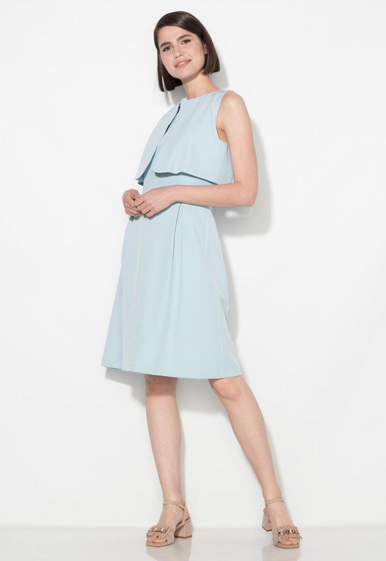 Zee Lane Collection Rochie bleu evazata cu detaliu suprapus