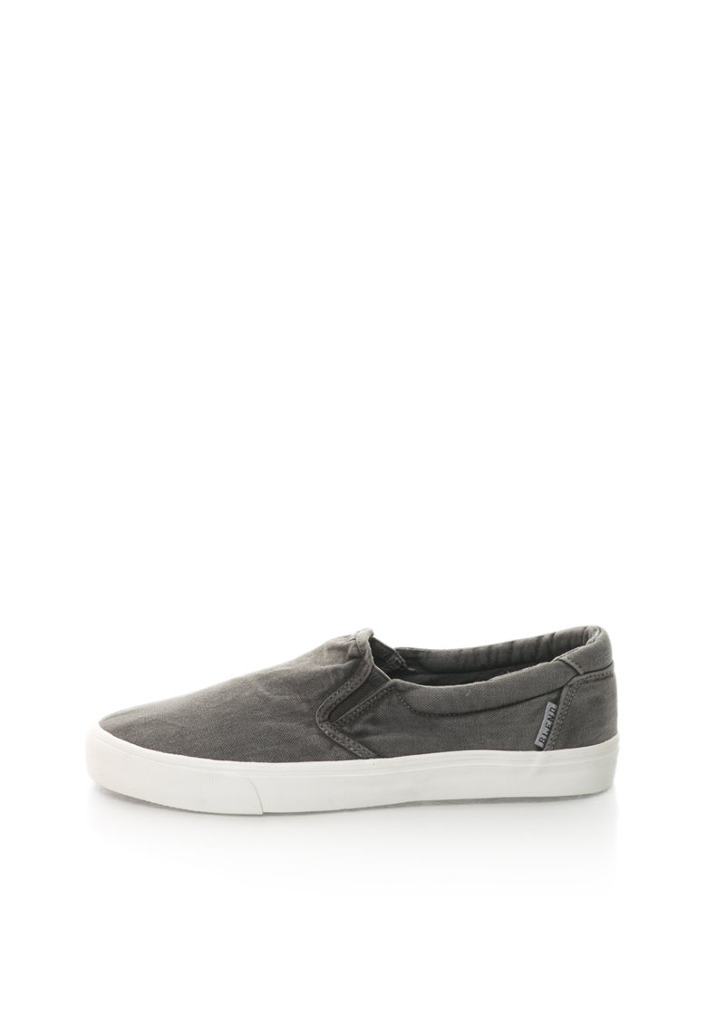 BLEND Pantofi slip-on gri stins