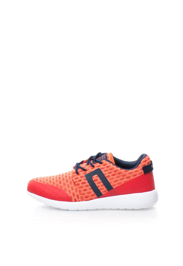 BLEND Pantofi sport rosii texturati