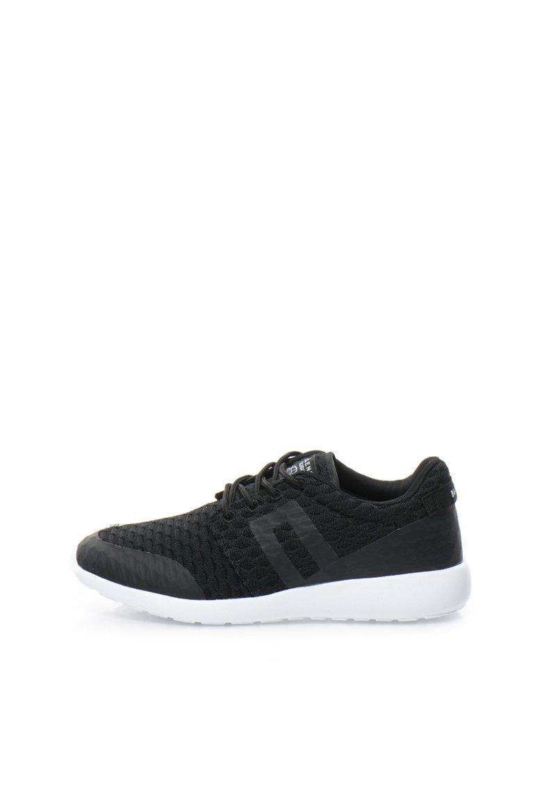 BLEND Pantofi sport negri texturati