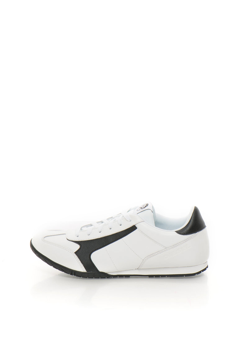 Diesel Pantofi sport alb cu negru de piele Actwyngs