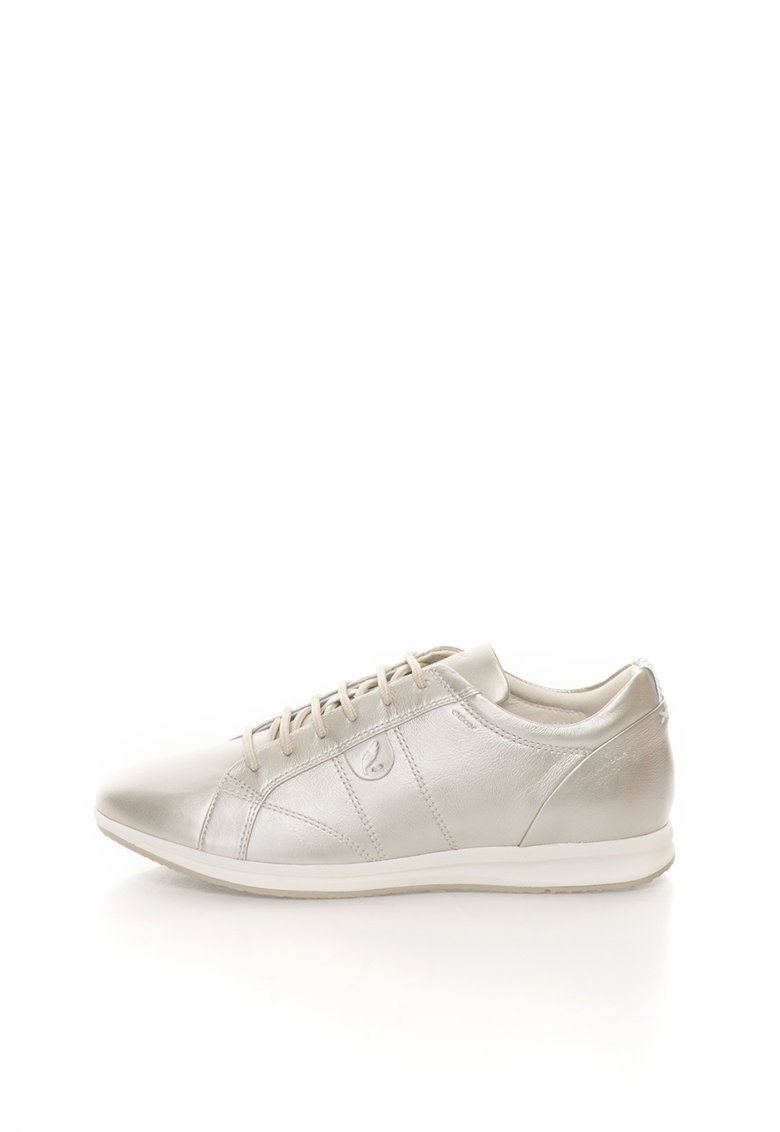 Pantofi sport argintii de piele Avery