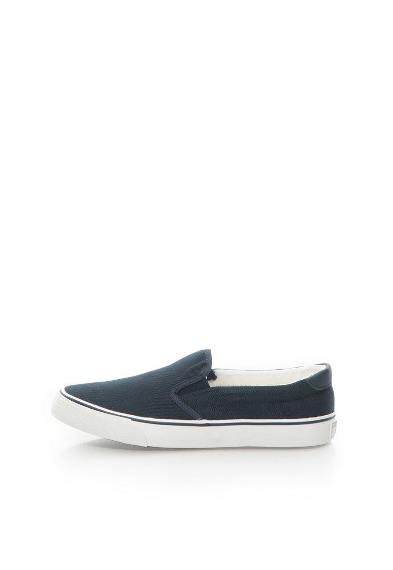 Pantofi slip-on bleumarin de panza Wes