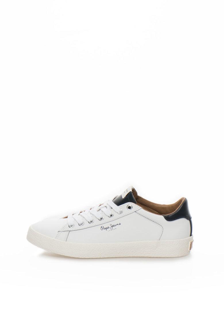 Pantofi sport alb cu bleumarin inchis Stadium de la Pepe Jeans London