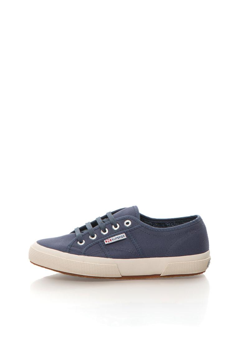 Superga Pantofi sport albastru indigo cu sireturi Cotu Classic