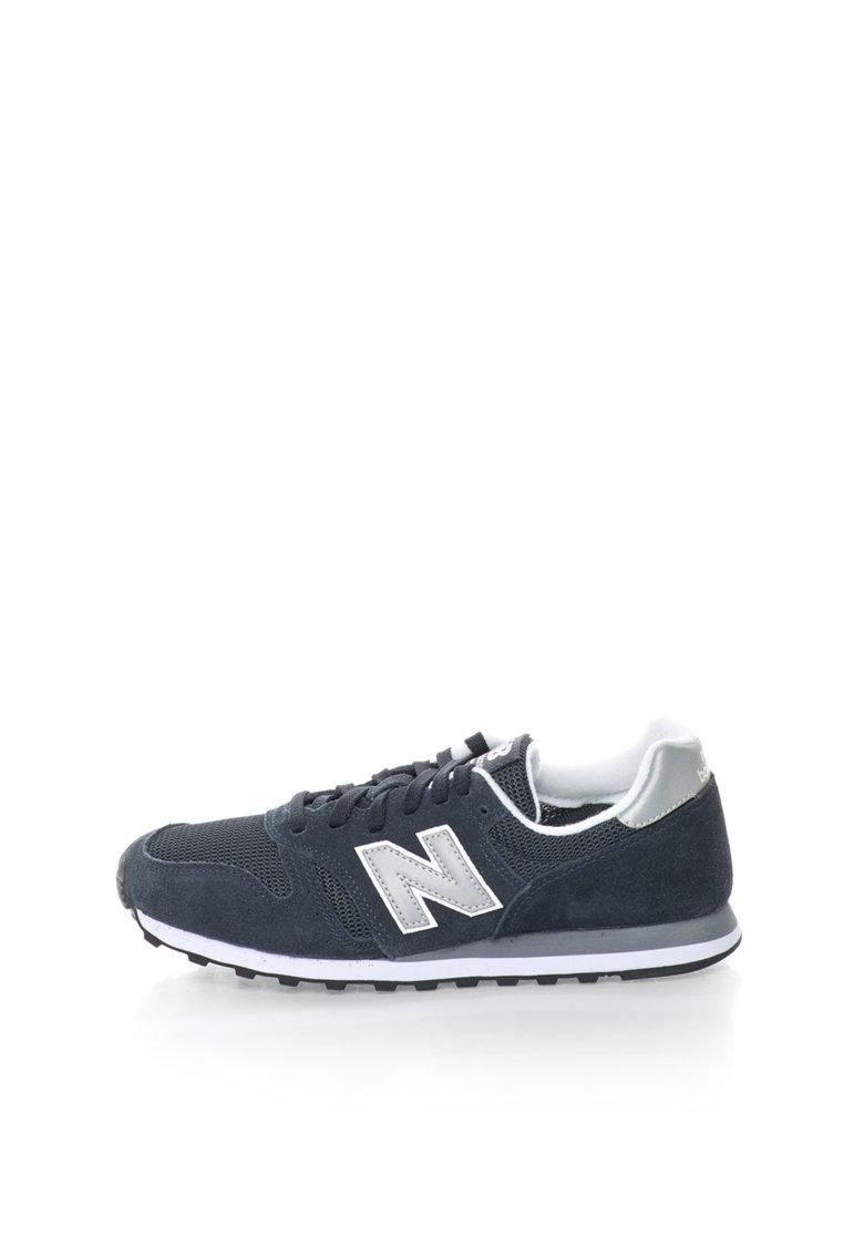 Pantofi sport de piele intoarsa si plasa 373