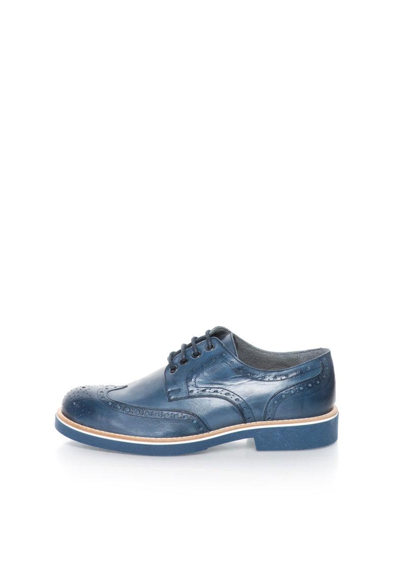 Zee Lane Pantofi brogue albastri de piele