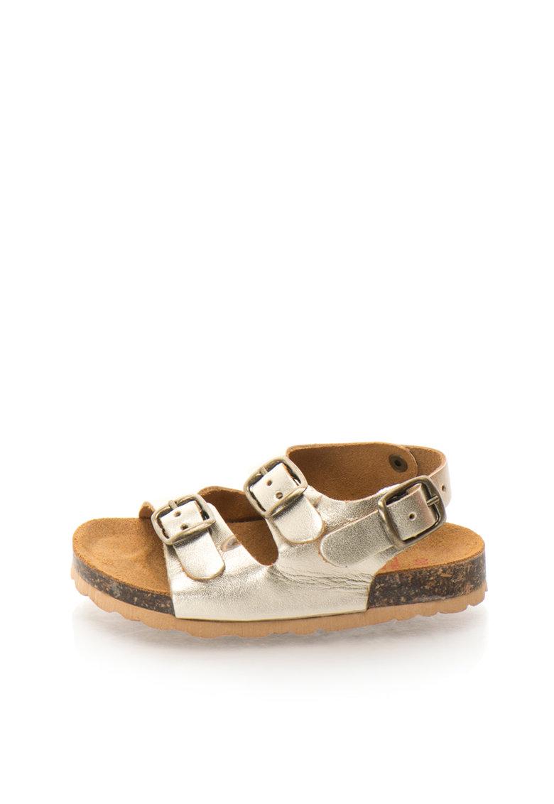 Sandale slingback de piele Alex pentru copii de la Zee Lane – ALEX-1-PELLE-PLATINO-ZNE