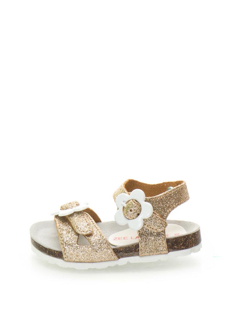 Zee Lane Sandale aurii de piele cu particule stralucitoare Ariel
