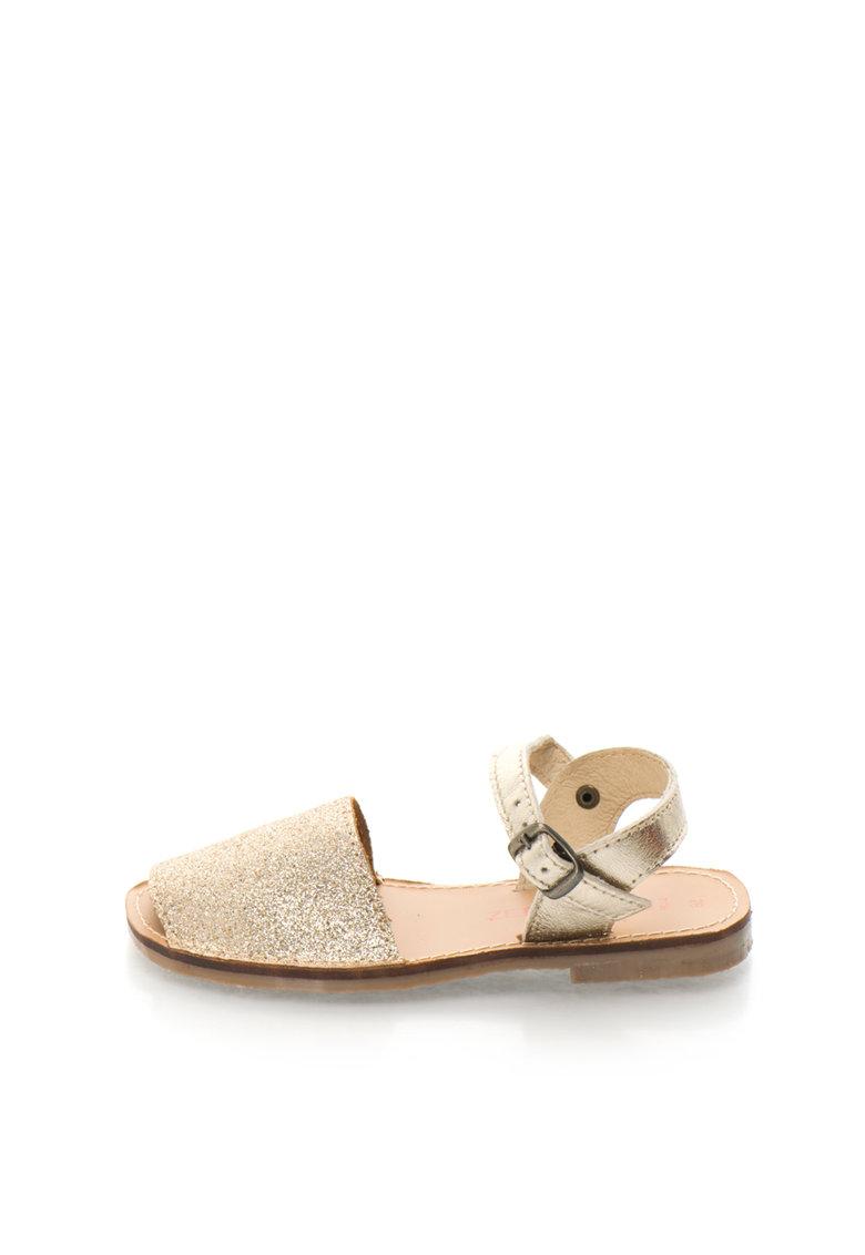 Zee Lane Sandale slingback aurii stralucitoare de piele Asia
