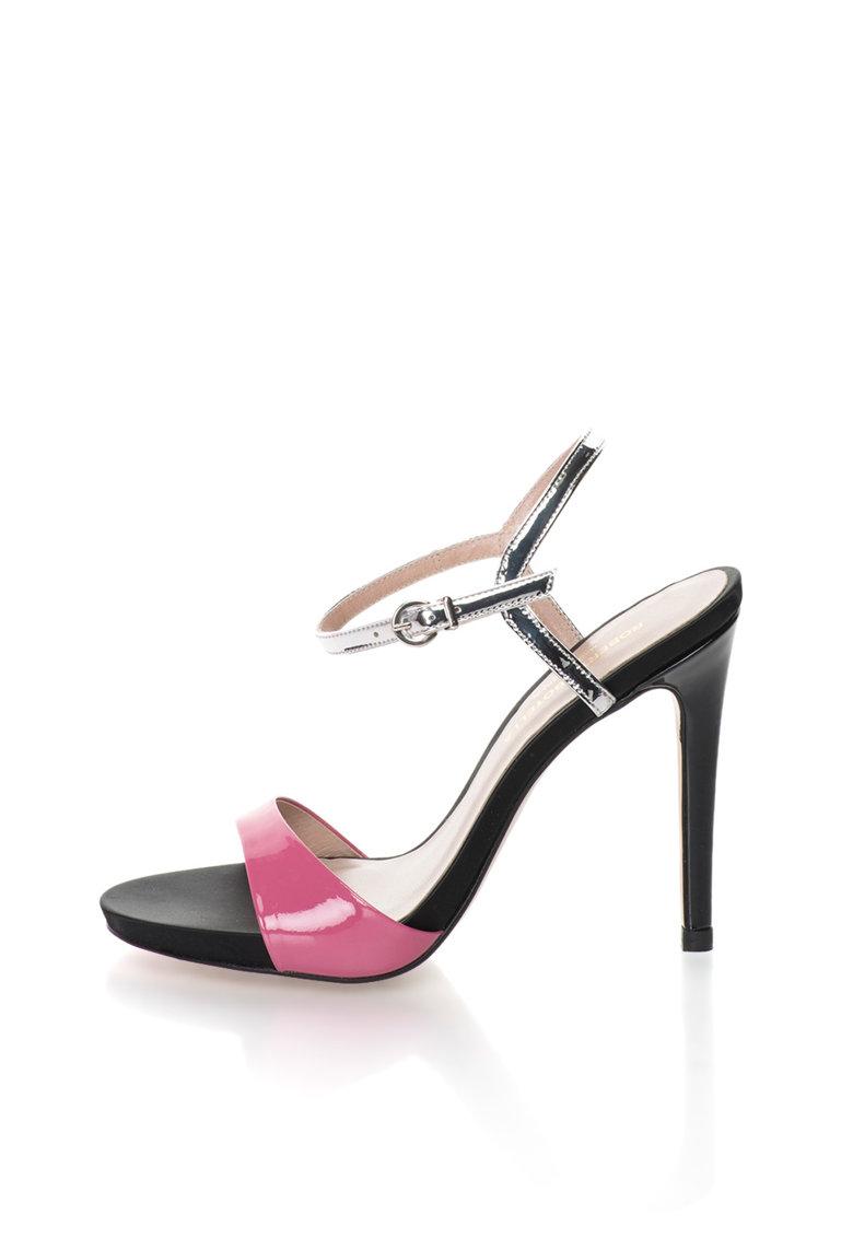 Roberto Botella Sandale roz cu argintiu
