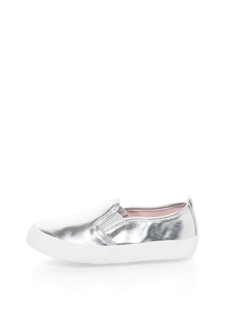 Pantofi slip-on argintii Nasau
