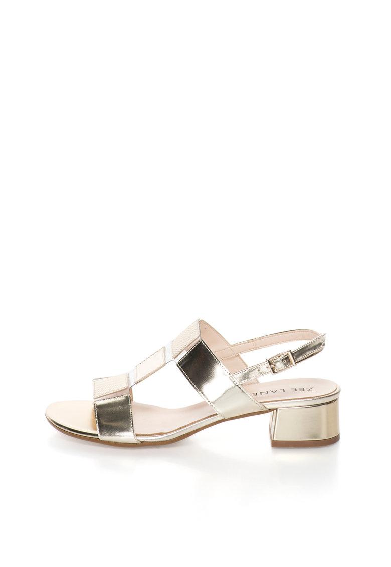 Zee Lane Sandale slingback auriu cu alb transparent