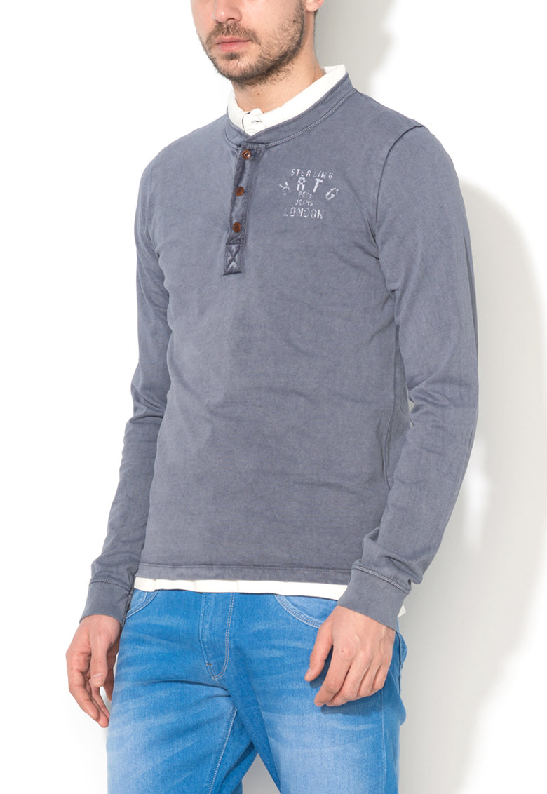 Bluza slim fit albastru cadet Percy de la Pepe Jeans London
