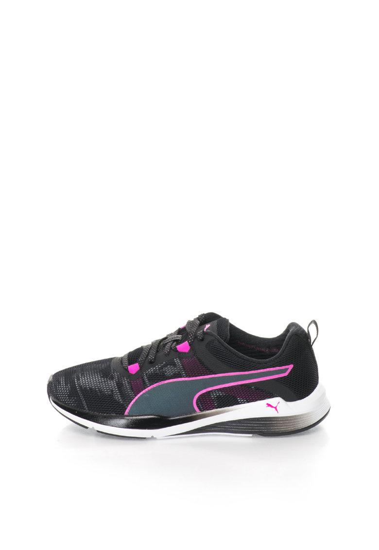 Puma Pantofi sport negru cu fucsia Pulse Ignite XT