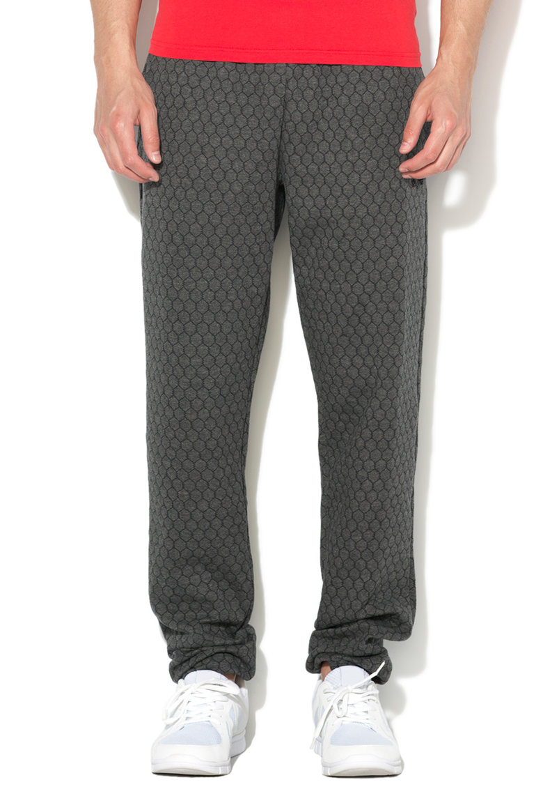Emporio Armani Pantaloni sport de casa gri inchis melange cu mode
