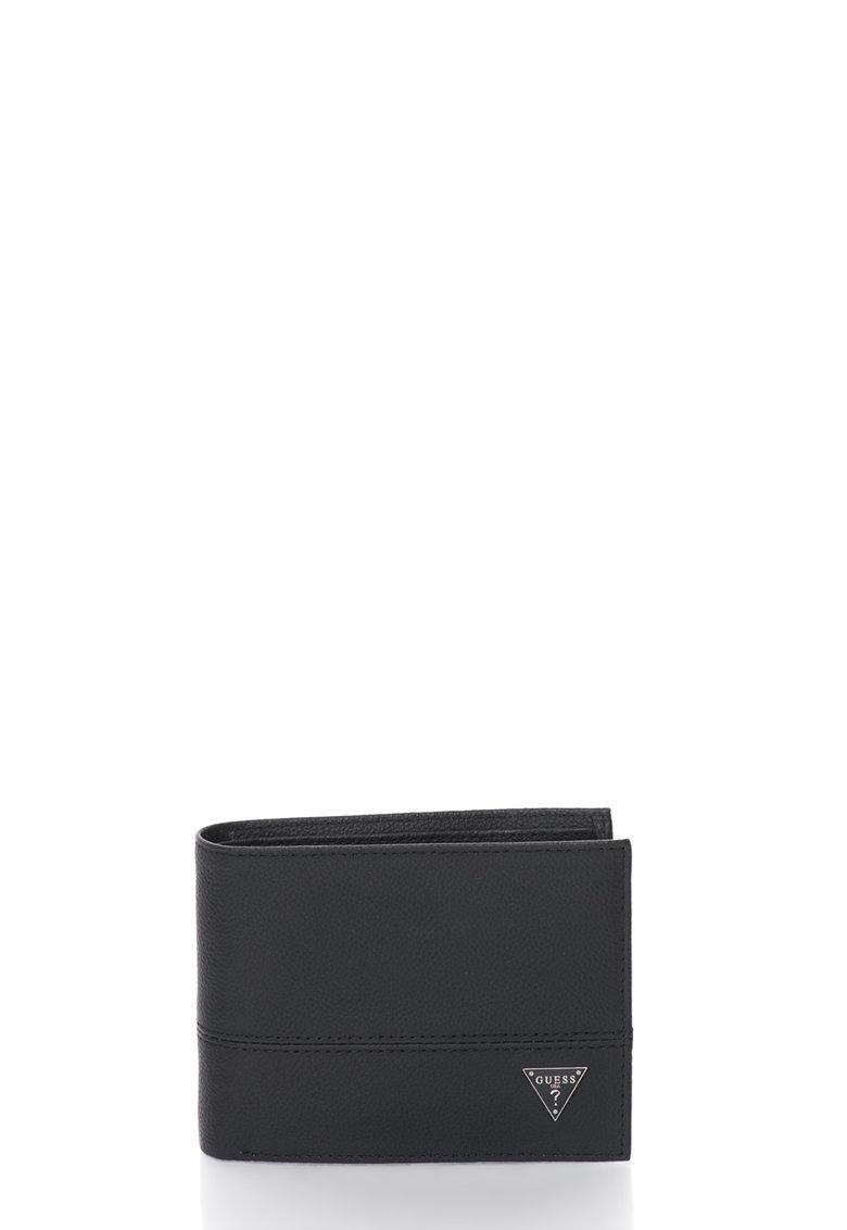 GUESS Portofel pliabil negru de piele