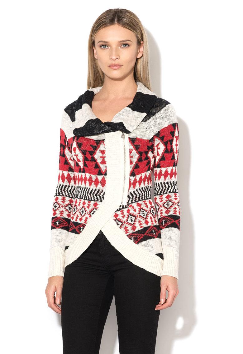 Desigual Cardigan tricotat asimetric multicolor