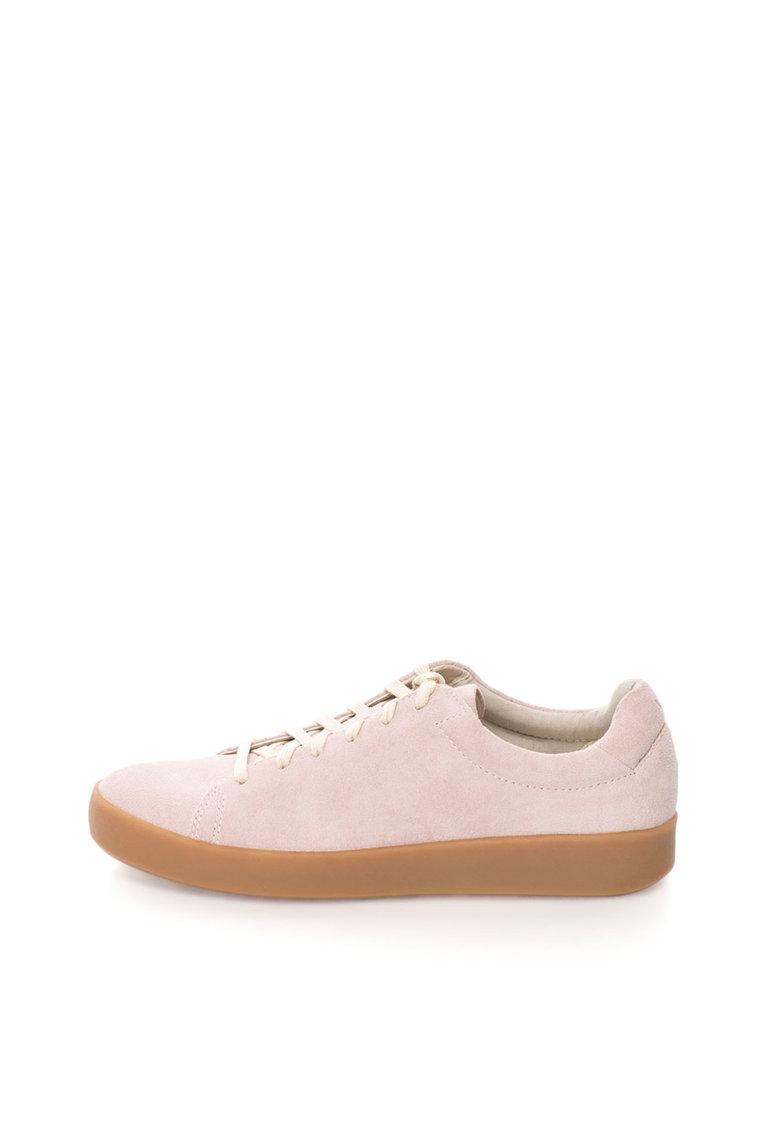 Vagabond Shoemakers Tenisi flatform roz mineral de piele intoarsa Serena
