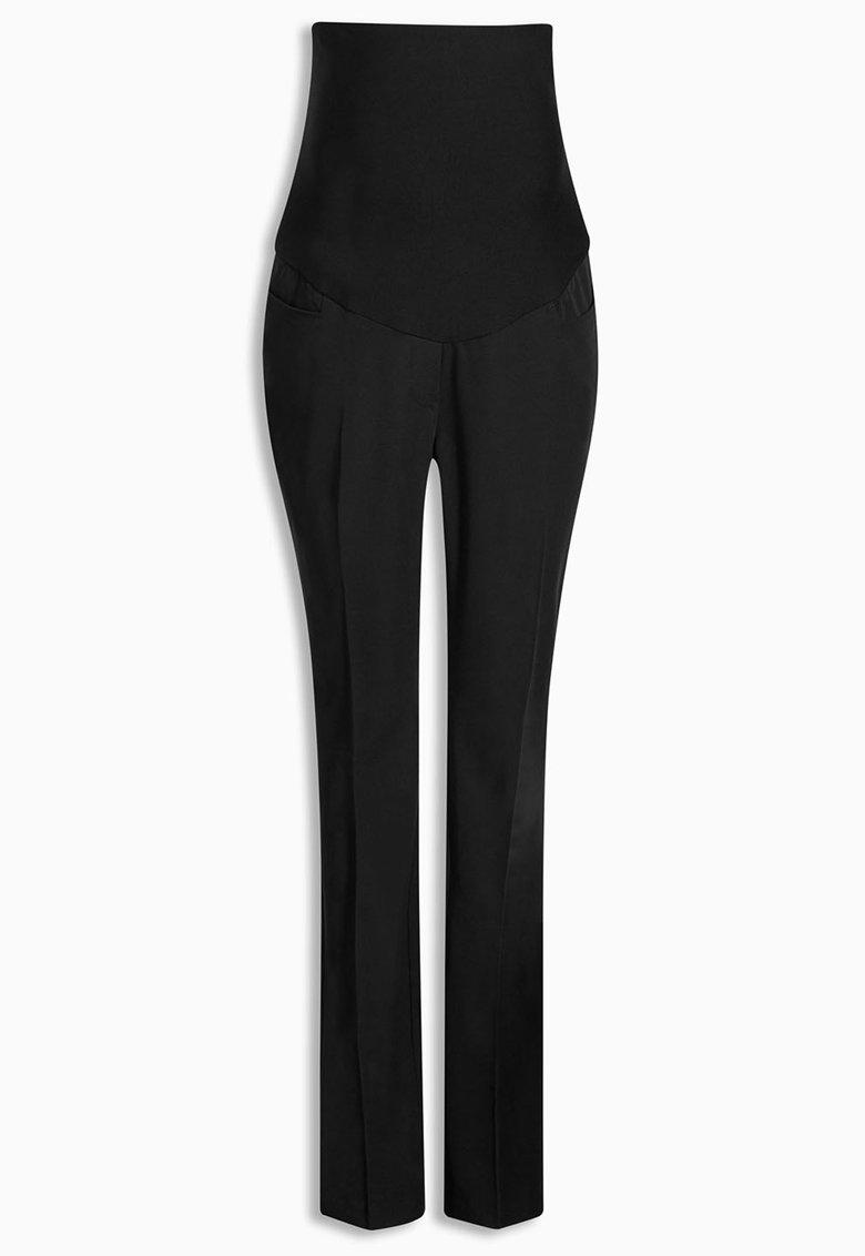 NEXT Pantaloni negri pentru gravide cu croiala bootcut