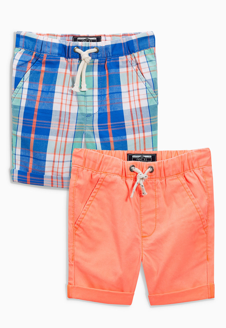 NEXT Set de pantaloni scurti oranj si bleumarin – 2 piese