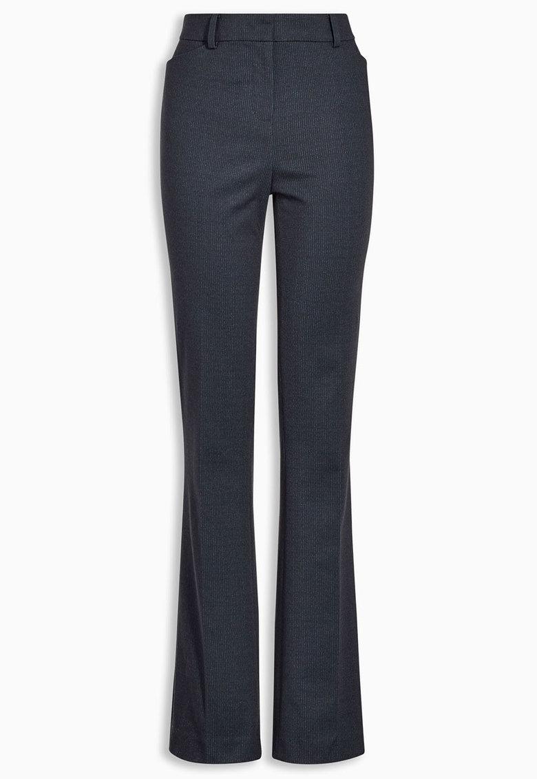 NEXT Pantaloni evazati bleumarin cu dungi discrete