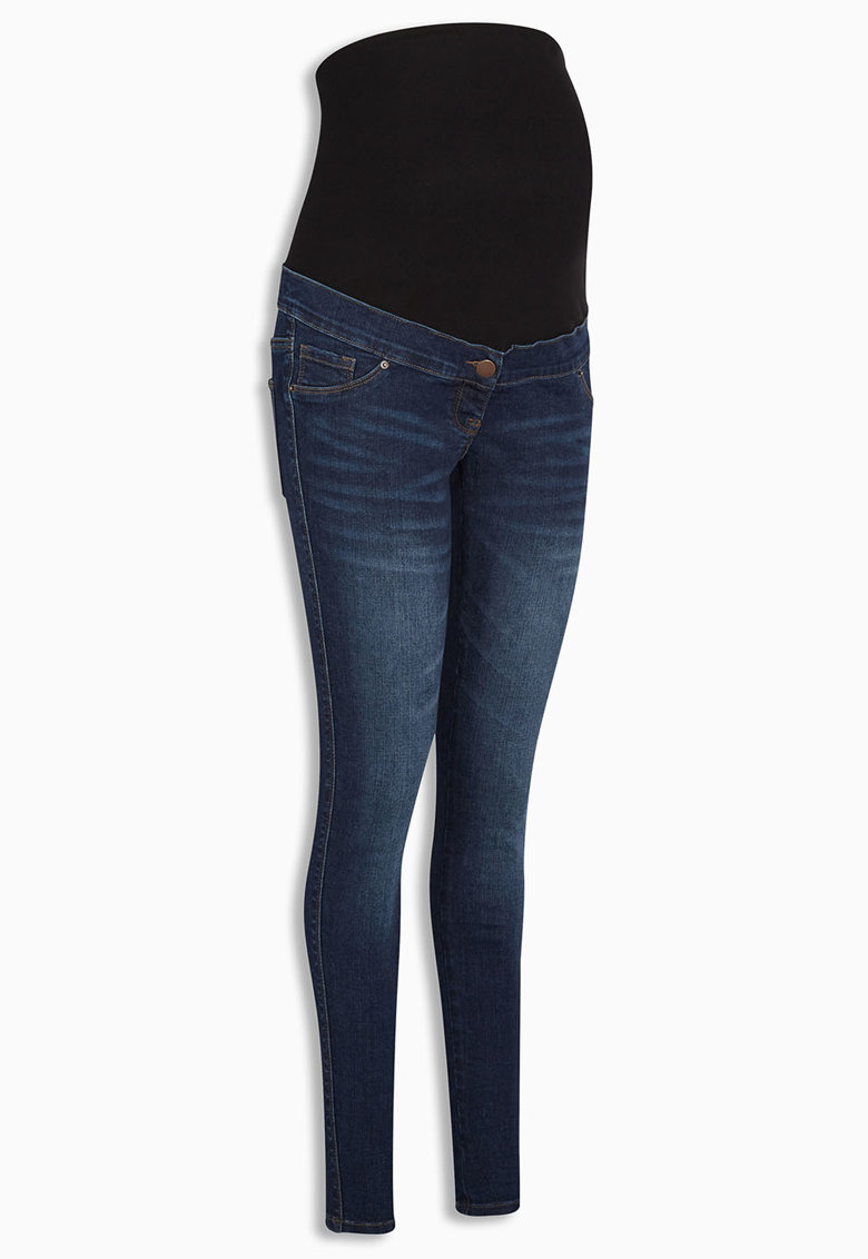 NEXT Blugi skinny albastri pentru gravide