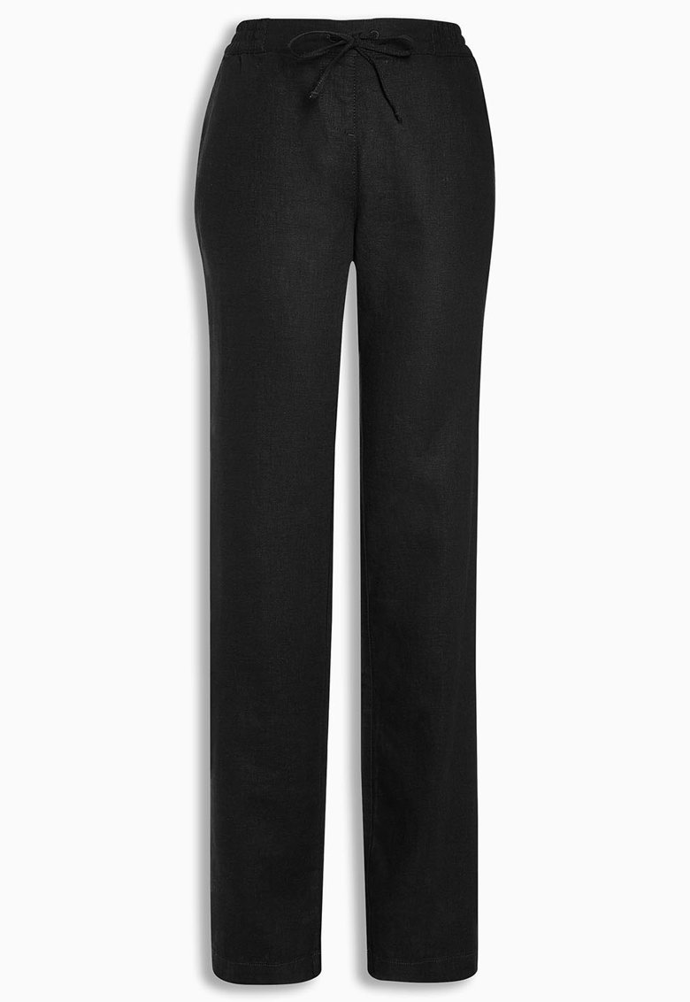 NEXT Pantaloni negri din amestec de in