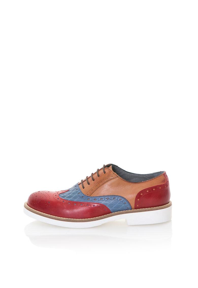 Zee Lane Pantofi brogue multicolori de piele