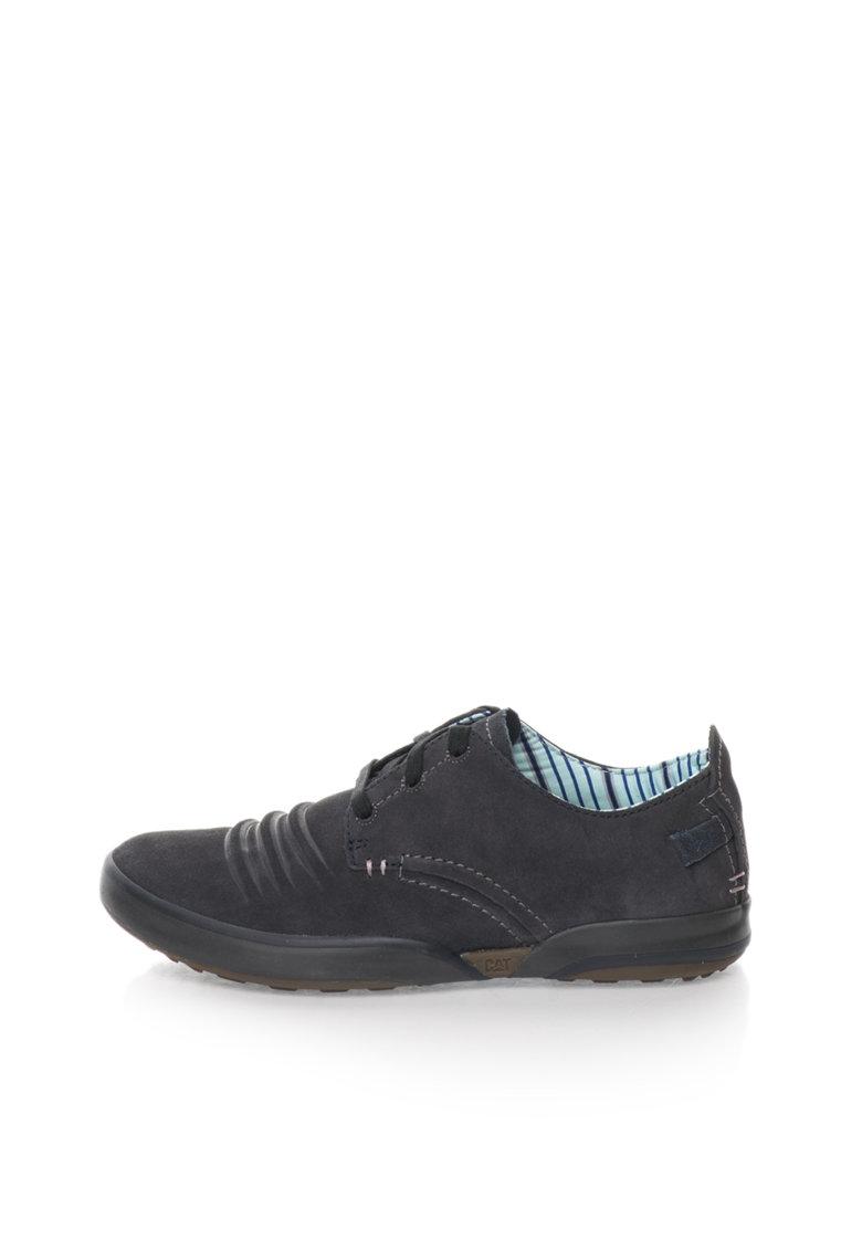 Pantofi bleumarin de piele intoarsa Status
