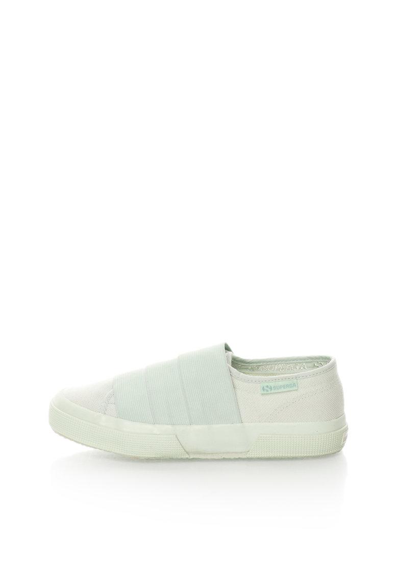 Pantofi slip-on verde menta Cotu de la Superga