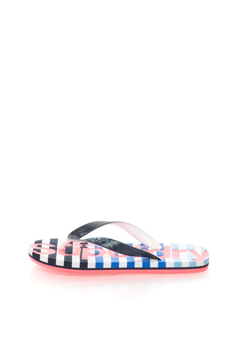 Papuci flip-flop negru cu alb Eva de la Superdry