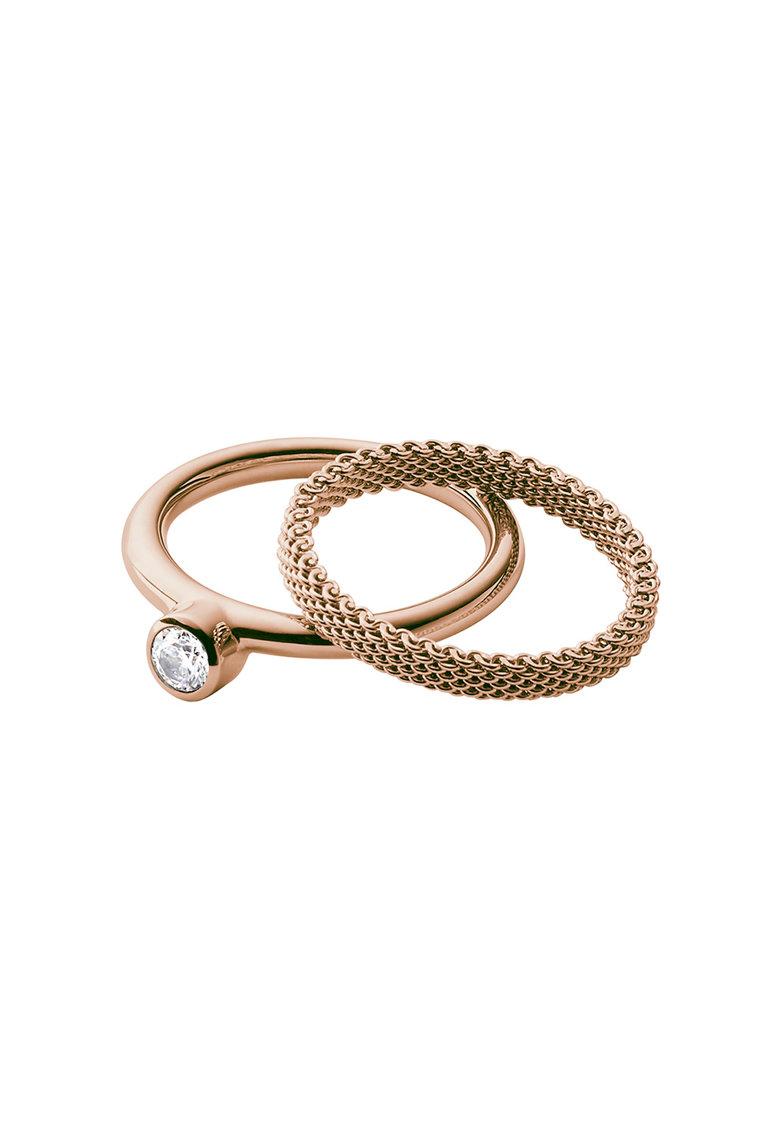 Set de inele auriu rose – 2 piese de la Skagen
