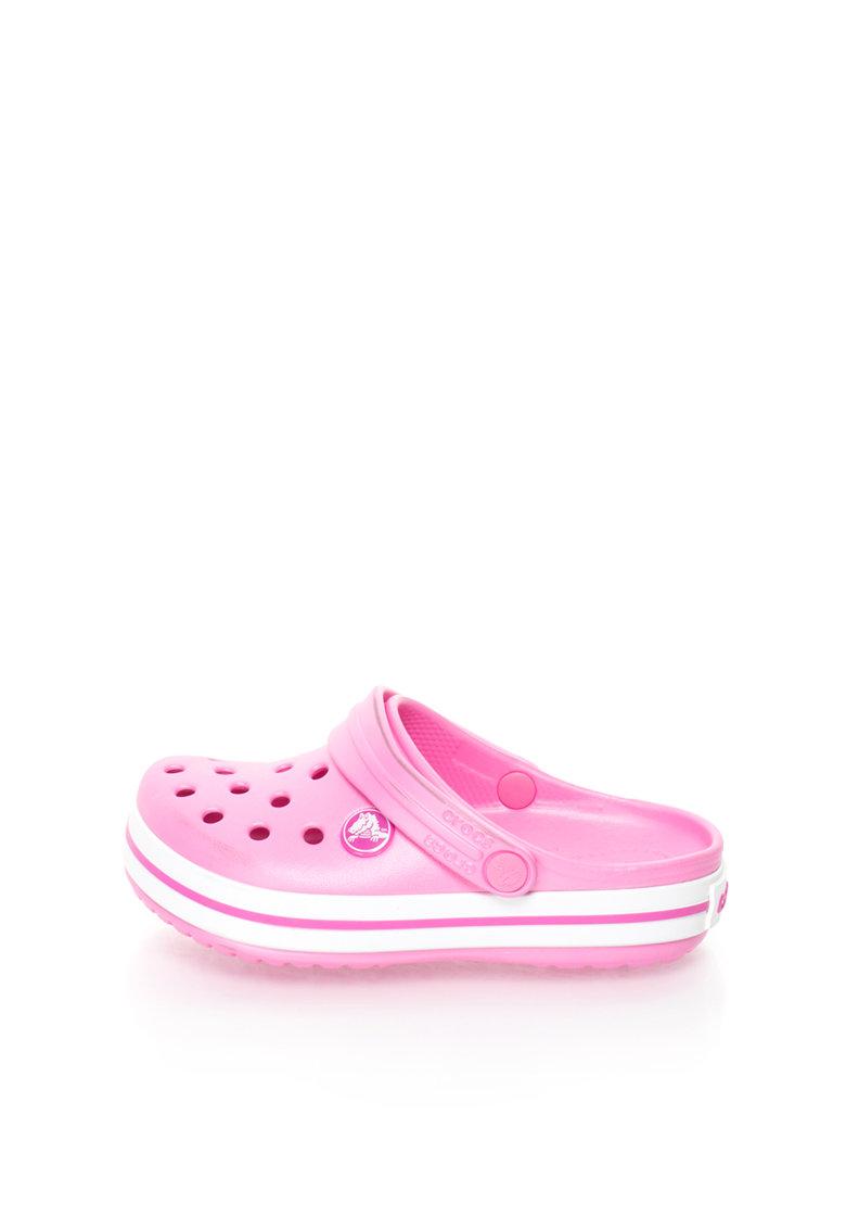 Crocs Saboti slingback usori roz cu alb Crocband™
