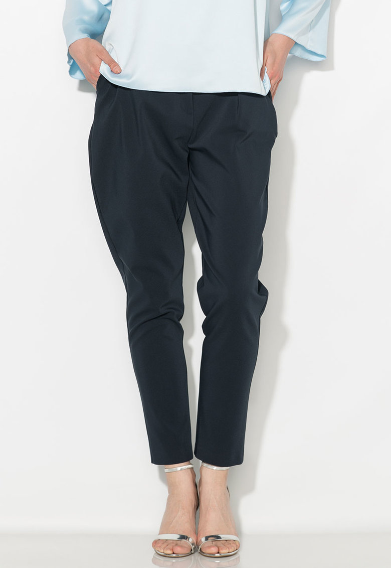 Pantaloni conici bleumarin inchis Zee Lane Collection