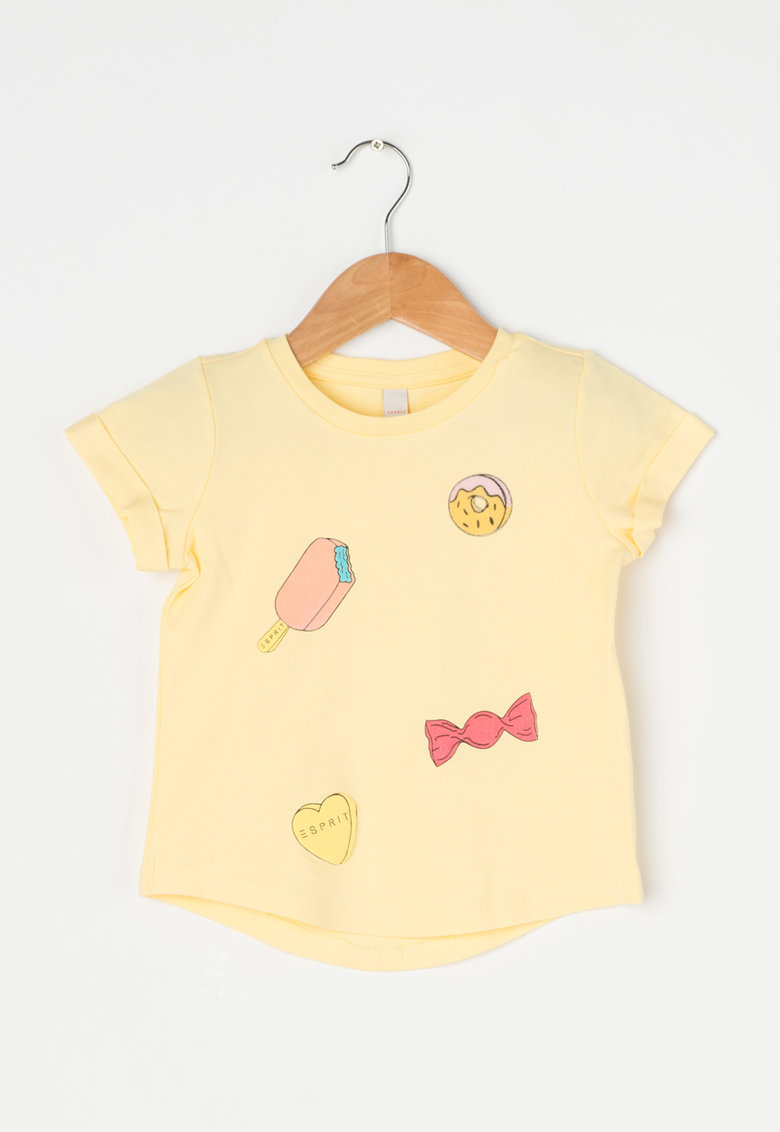 Tricou galben cu imprimeu de la Esprit