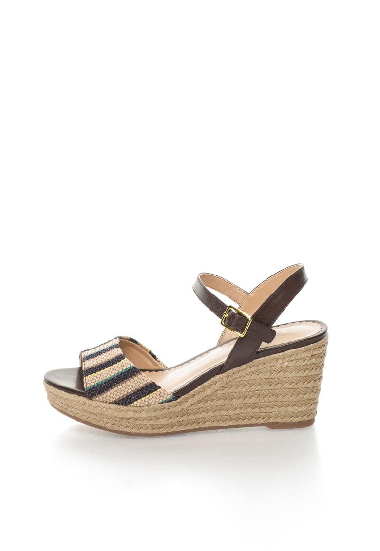 Sandale wedge tip espadrile multicolore Keara