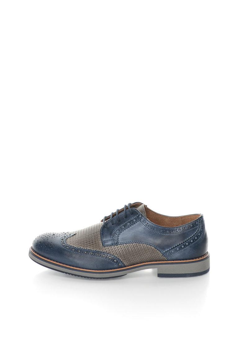 Zee Lane Pantofi brogue bleumarin cu gri de piele Robert