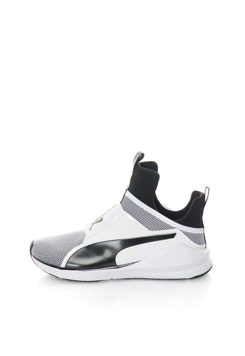Puma Pantofi sport negru cu alb Fierce