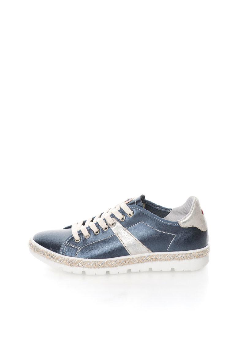 Napapijri Pantofi casual albastru metalizat de piele Likke