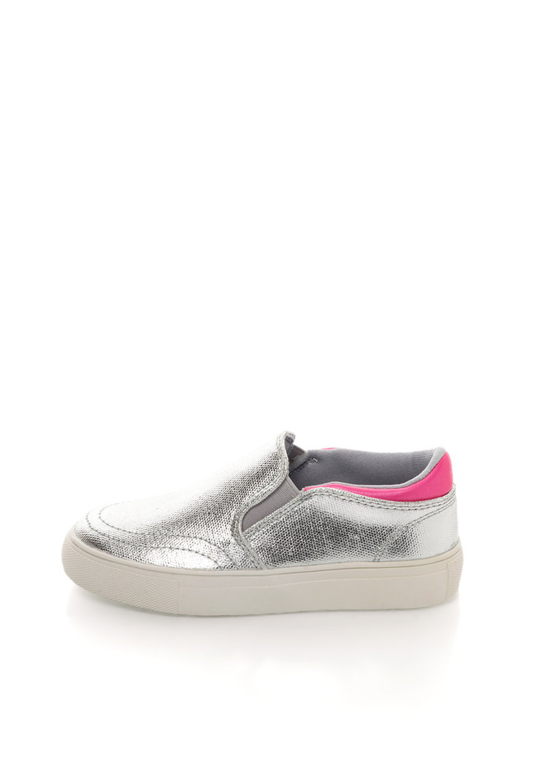 Colors of California Pantofi slip-on argintii
