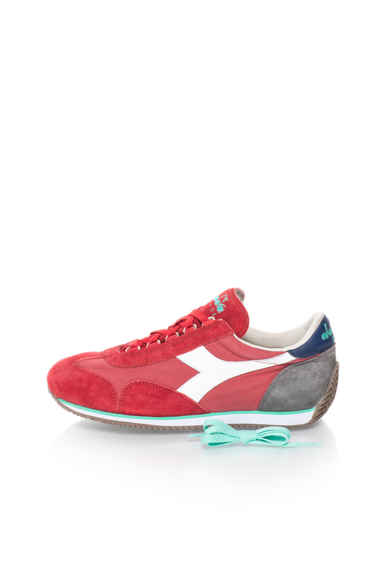 Diadora Heritage Pantofi sport rosu cu gri Equipe