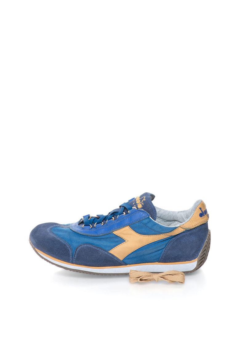 Diadora Heritage Pantofi sport albastri cu garnituri de piele intoarsa Equipe