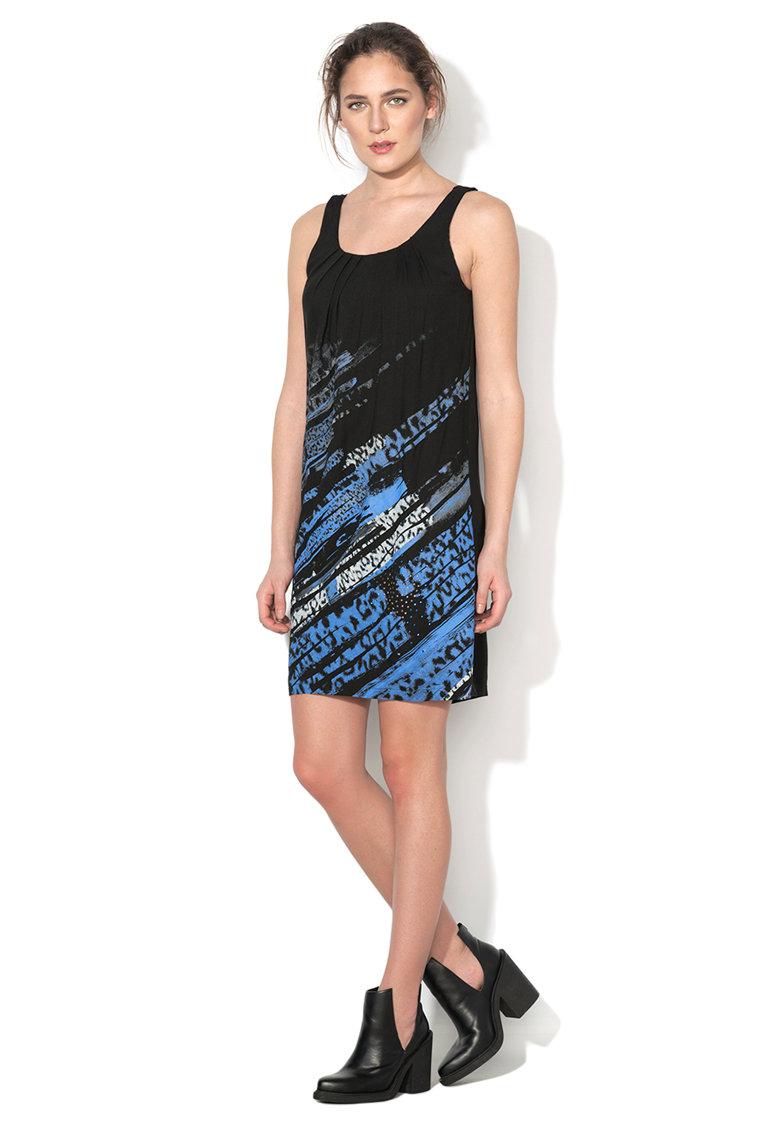 Rochie neagra cu imprimeu multicolor Pennsylvania
